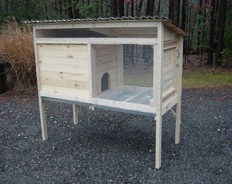 Downloadable Woodworking Plans for a 5 ft. Rabbit Hutch - Illustrated with Photos!