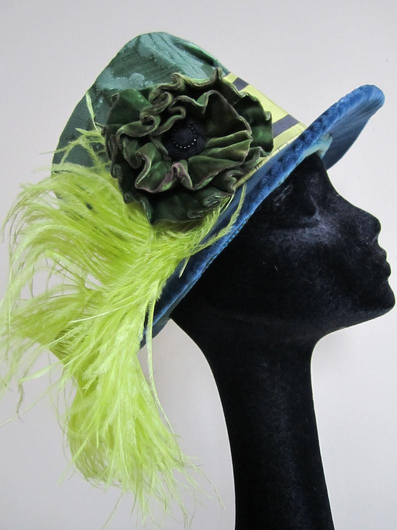 204c1b8e735 Elizabethan Tall Hat Reproduction Steampunk Blue Renaissance