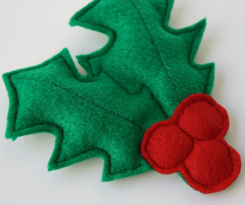Cat Toy Jolly Catnip Holly Christmas cat gift holiday gift image 0