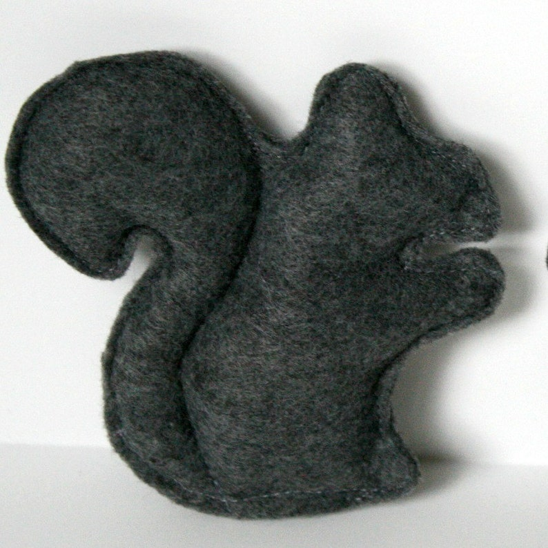 Cat Toy Gray Catnip Squirrel felt cat toy cat toys felt cat image 0