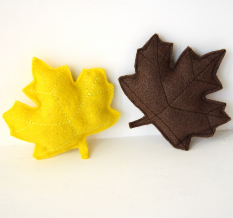 Cat toy Fall catnip maple leavesleafsilver vinecat gift image 0