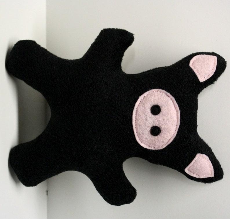 Dog Toy Fleece Pig squeaky toy pig dog toy stuffed dog image 0