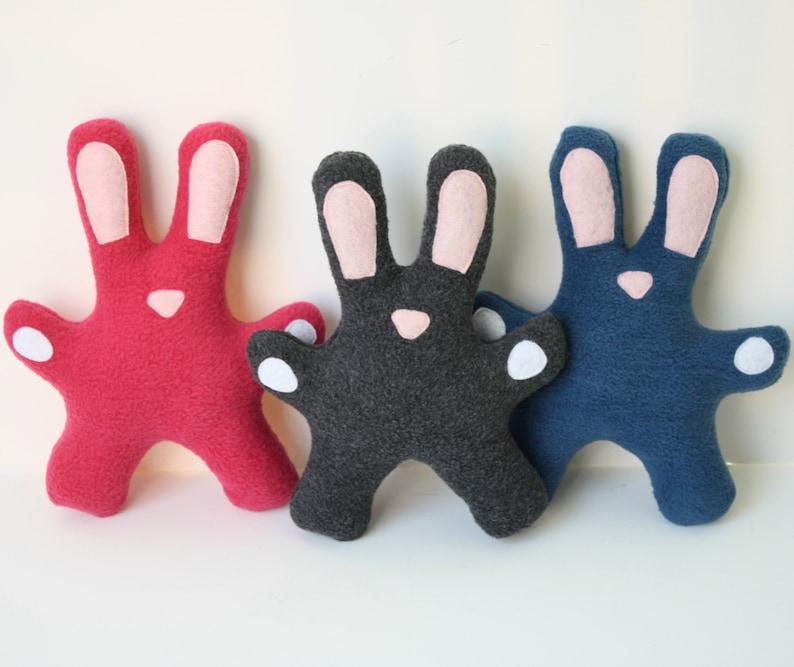 Dog Toy Fleece Bunny squeaky toy rabbit dog toy stuffed image 0