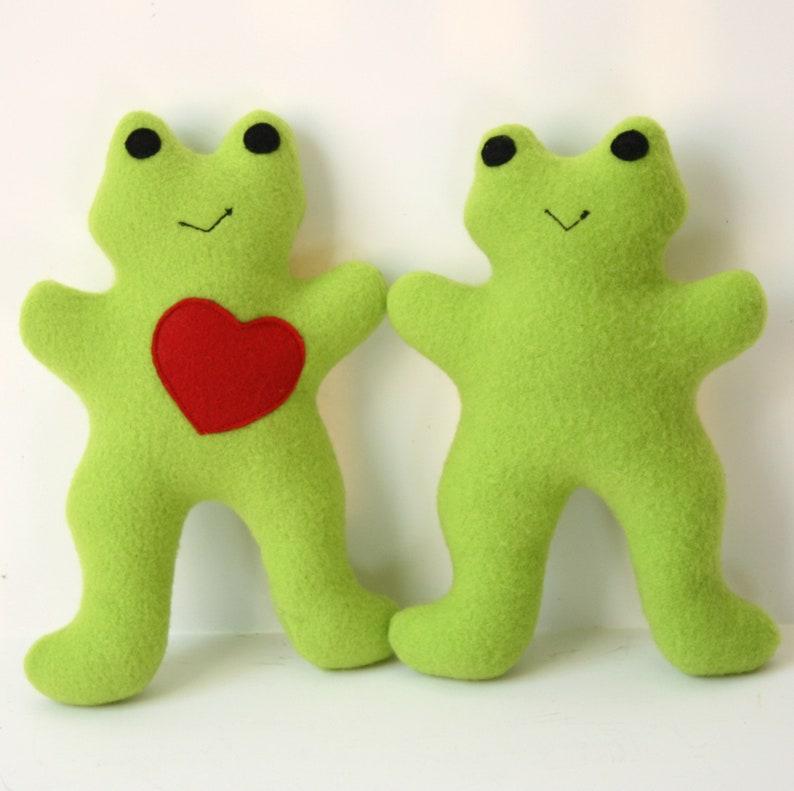 Dog Toy Froggie Squeaky Fleece Dog Toy handmade pet toy image 0