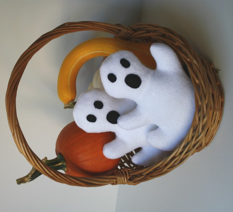 Dog Toy Ghost squeaky toy Halloween dog toy stuffed dog image 0