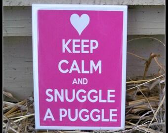 Magnet, Snuggle a Puggle Magnet, Puggle, Pug