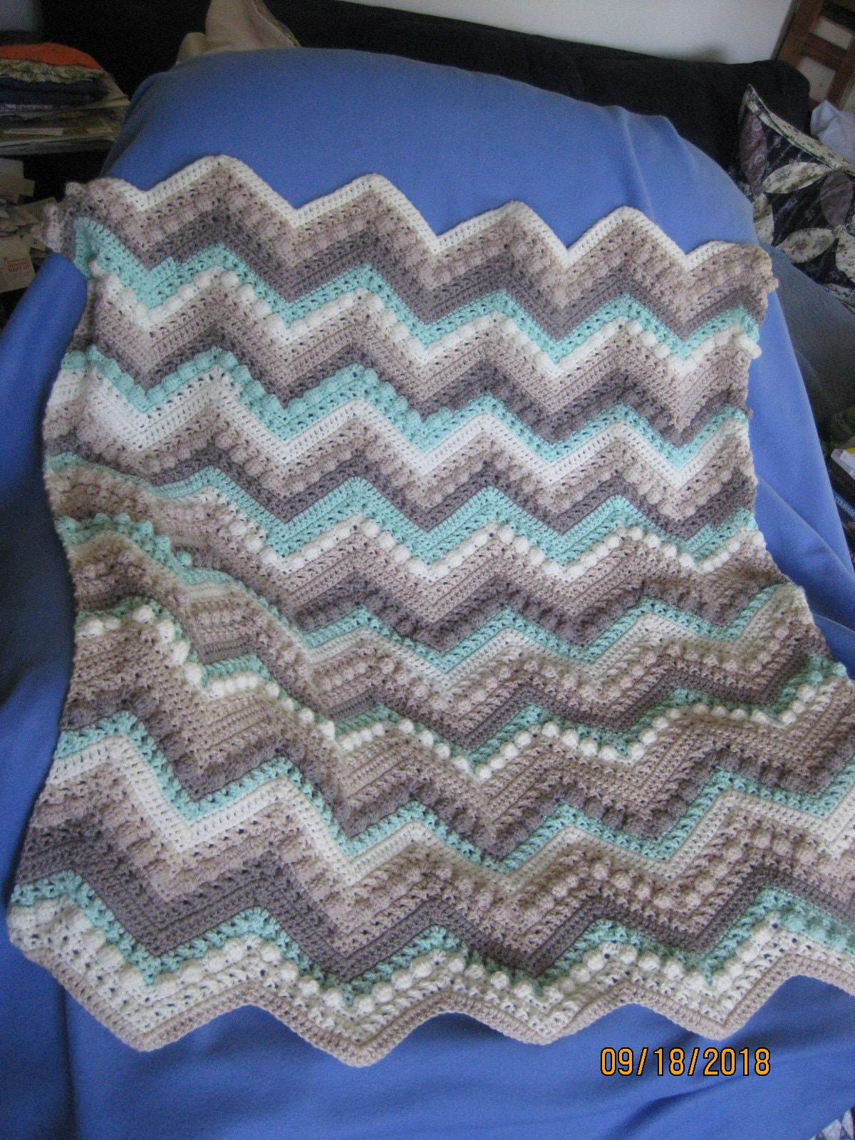 Handmade Crocheted Baby Blanket Hugs And Kisses In Dreamy Etsy