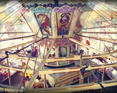 Heavenly 5x7 print, nostalgic, carousel, merry go round, digitally altered