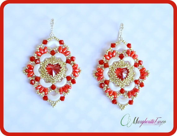 I Love You Earrings Pattern Pdf Tutorial For Diy Valentine Etsy