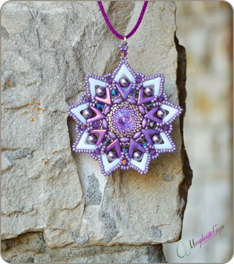 Avastar pendant pdf step by step tutorial  How to make a pendant with beads