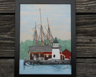Brant Point Light, reproduction, at Mystic Seaport, Mystic, Ct.