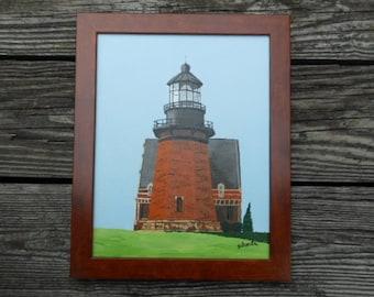 "Block Island Southeast Lighthouse  14""h x 11""w"