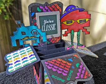 You're a Classic - Space Invader Box Card