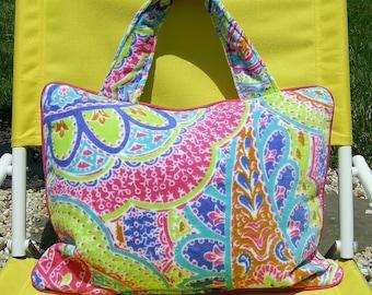 Pillow Beach Pillow Travel Pillow Paisley Multicolor