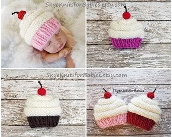 e03cfe07acd Newborn Baby Cupcake Hat