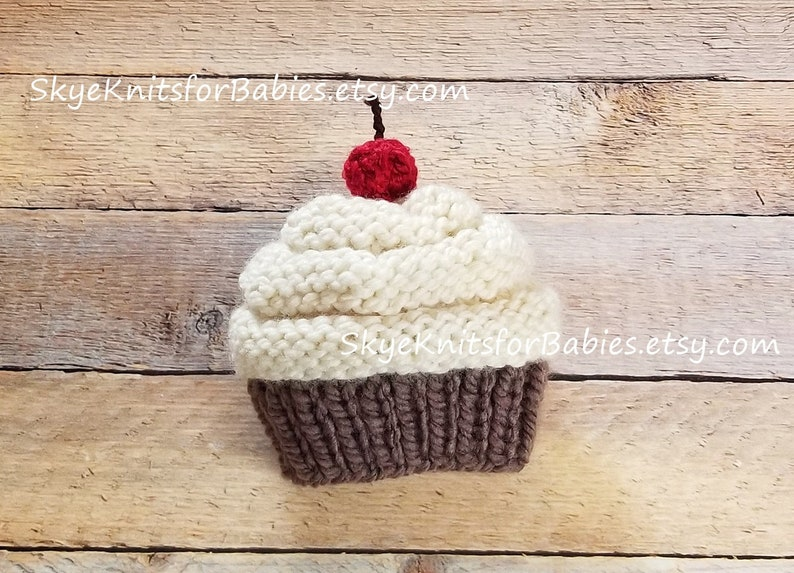 Knit Cupcake Hat Baby Cupcake Hat Cupcake Beanie Baby Girl