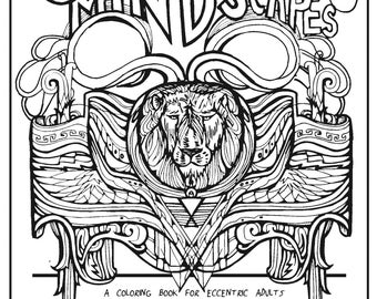 Churning Mindscapes A Coloring Book For Eccentric Adults