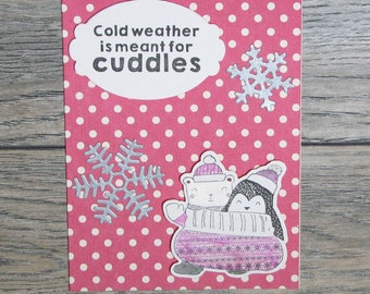 Winter is for Cuddles Rose handcrafted card-CB123117-3