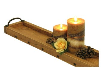 Long Tray, Candle Tray, Centerpiece Tray, Wooden Candle Holder, Succulent Tray, Plant Tray, Table Centerpiece, Candle Centerpiece