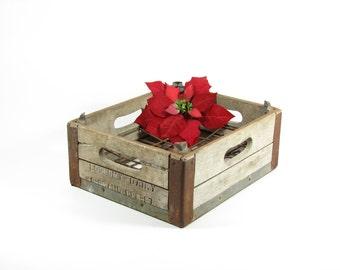 Vintage Wood Dairy Crate Wooden Advertising Box Economy Dairy Grand Rapids MI