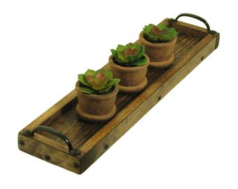 Succulent Plant Tray, Candle Tray, Herb Plant Holder, Candle Holder, Table Centerpiece Candle Holder, Mantle Candle Tray