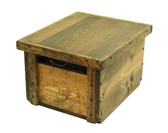 File Storage & Organization, File Box with Lid, Small File Cabinet, Wooden Box for Files, File Organizer, File Holder