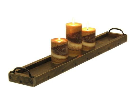 Tisch Kerze Tablett Lange Schmale Tabelle Herzstück Tablett | Etsy