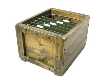 File Box, File Organizer, File Holder, Wooden Box for Files, File Storage & Organization, Filing System, Paperwork Organizer, File Sorter