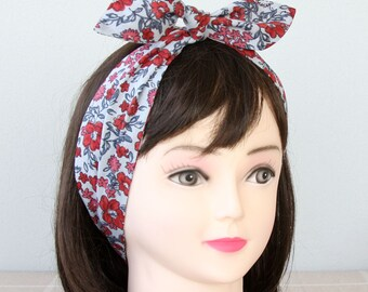 Denim Blue Headband adult headband woman top knot headband cotton head wrap  hair headbands for women floral headband bow headband fashion b74725cae29