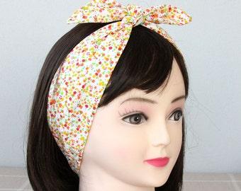 Dolly Bow Headband adult headband woman top knot headband cotton head wrap  headbands for women floral headband pin up headband retro style 971d7943dc7