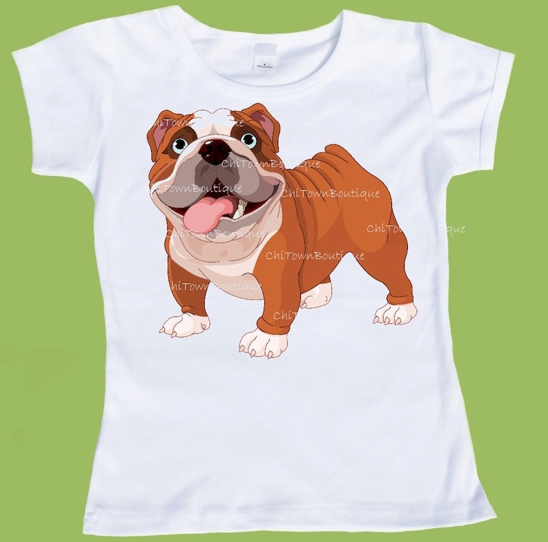 English Bulldog Shirt Bulldog T Shirt Brown And White Dog Graphic Tees Bullie Dog Shirt By Chitownboutique Etsy