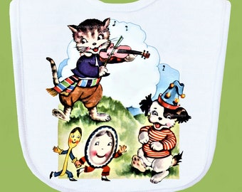 Cat and the Fiddle Baby Bib, Boutique Quality, Baby Shower Gift, ANY DESIGN by ChiTownBoutique