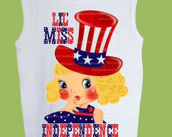 Red White Blue, Miss Independence, 4th of July, Patriotic T-Shirt, Tank Top, One Piece Baby by ChiTownBoutique.etsy