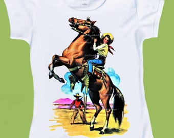 Womens, Girls Horse Rider T-Shirt, Vintage Western,One Piece Baby, Rodeo Shirt, Baby Clothes, Kids Shirts, Baby Gift, ChiTownBoutique.etsy