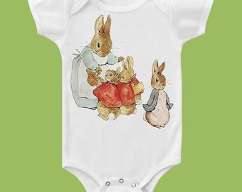 Peter Rabbit II One Piece Baby ,Tank or T-Shirt by ChiTownBoutique.etsy