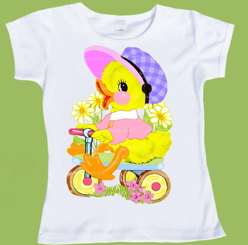 0495e4f57c9c Baby DuckGirls Easter shirt Pastel colors Duckling T-Shirt