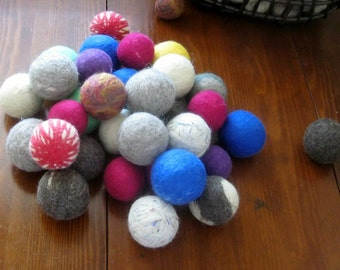 Felted Wool Dryer Balls-set of 4 Colored