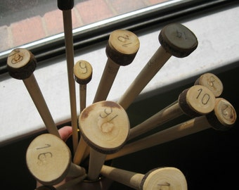 SUPER LONG Handmande Wooden Knitting Needles- US 18/ 14 mm