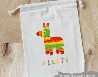 Set of 10 Mexico FIESTA Cactus Personalized Favor Bags PINATA Party Birthday Cinco de Mayo