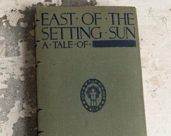1924 SETTING SUN Vintage Notebook Journal
