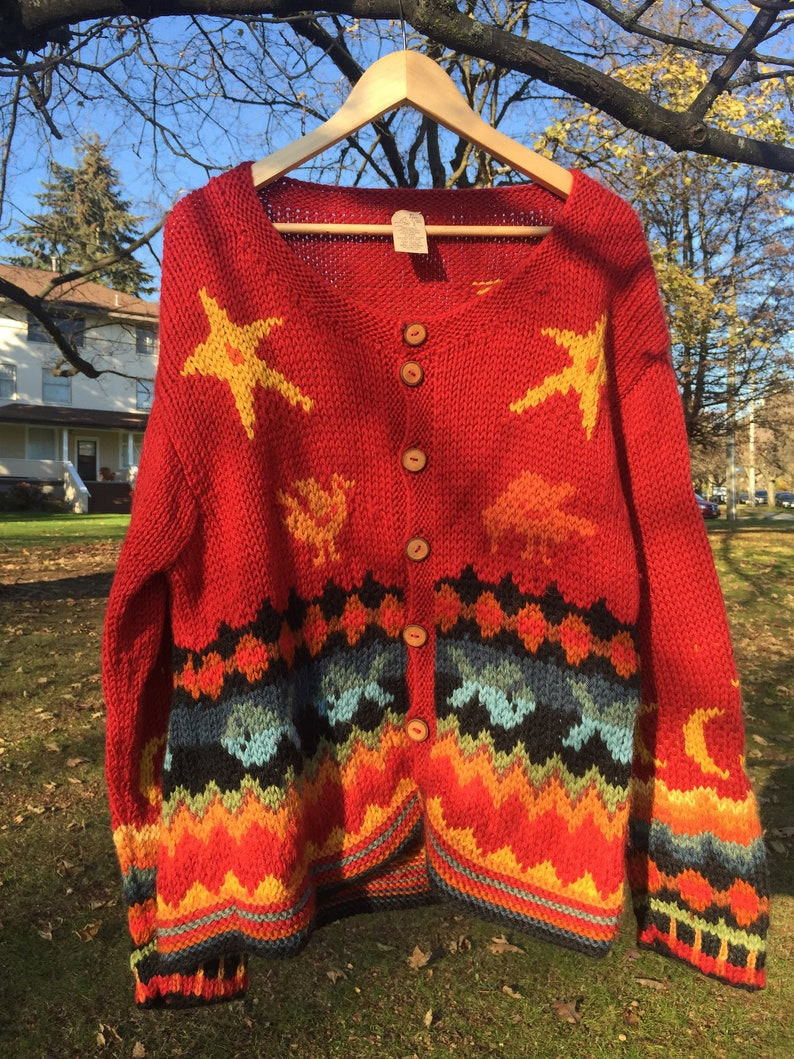 Vintage wool cardigan by Emma Klaveness Made in Canada