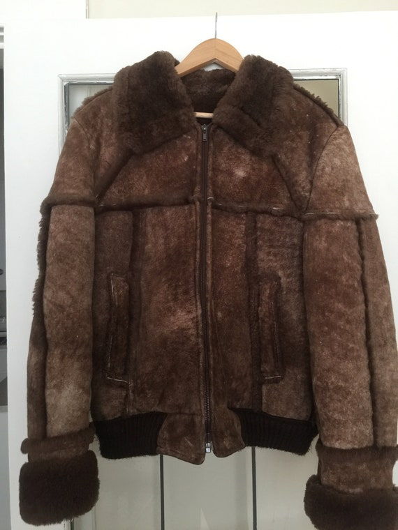 Men's Sheepskin Bomber Jacket