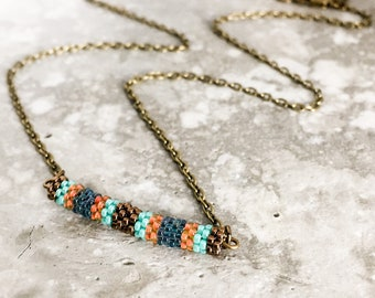 Minimalist Beadwork Necklace