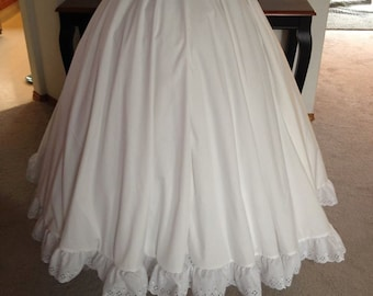 60f2d75a35 Adult Eyelet trimmed Petticoat to wear with your Princess Gown and Hoop  skirt