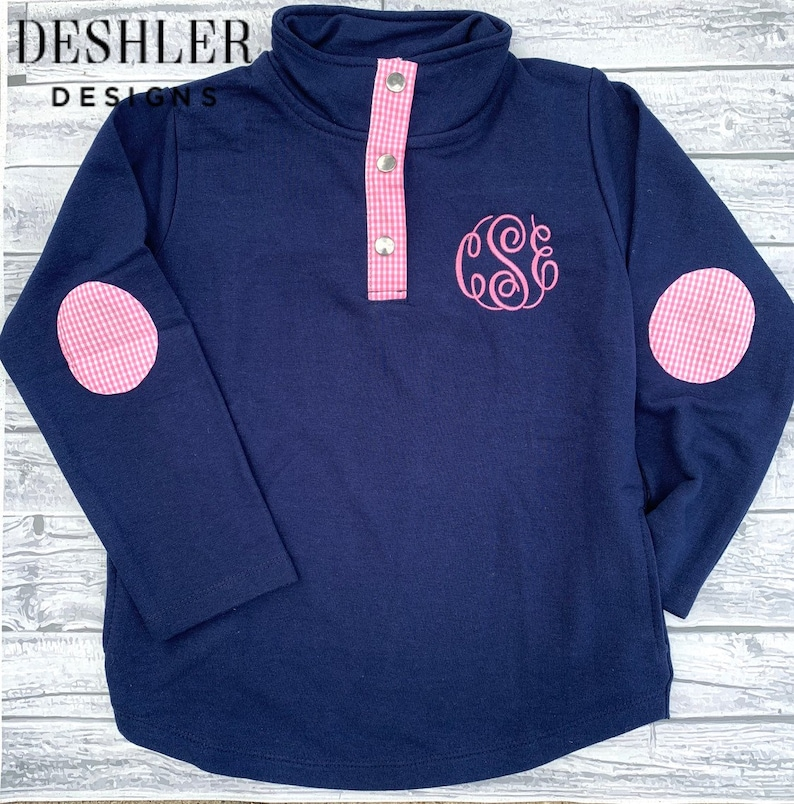 c53b4e1d0325 Pink and Navy Pullover Girls Pink and navy pullover girls