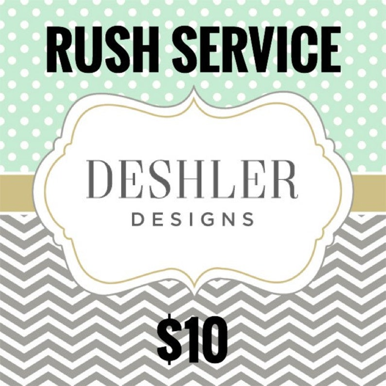 Rush Service Fee image 0