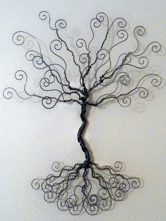 Jewelry tree wire wall mount.. earring hanger necklace | Etsy