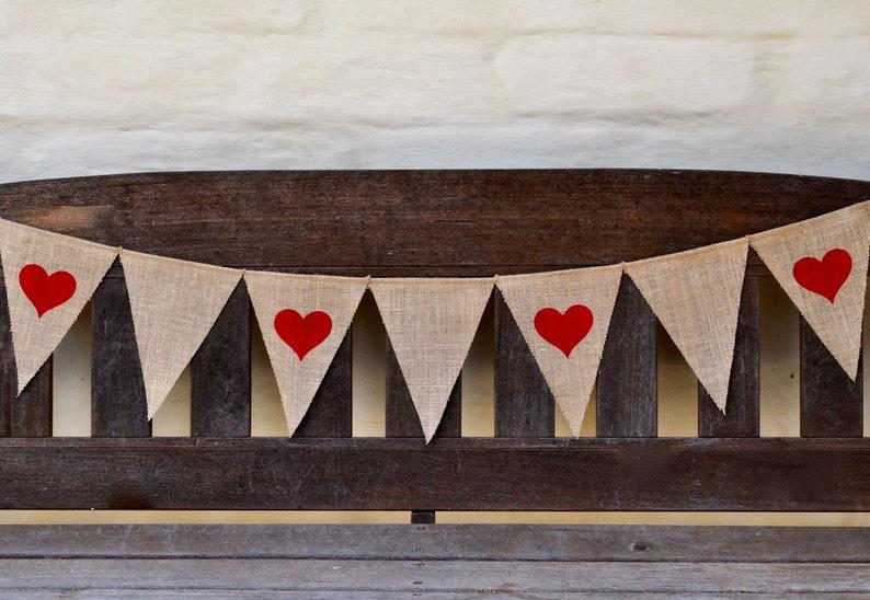 Comprometido Arpillera Rústico empavesado Shabby Boda Novia a Ser Garland Arpillera Banner