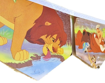 LION KING Banner Little Golden Book Bunting Paper Banner Children Repurposed Decoration eco friendly gift birthday party