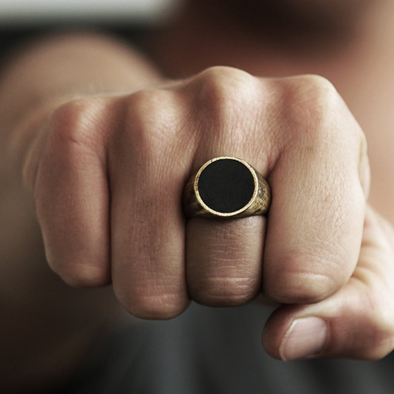 eb06fb9626e74 Gold Signet Mens Ring Custom Ring Mens Jewelry Pinky Ring Man Ring Rustic  Ring Mens Rings Gold Ring Personalized Ring